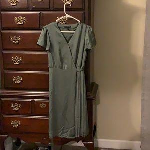 Banana Republic Olive Green Wrap Dress